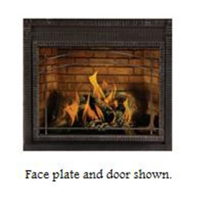 Napolean Fireplaces HD640KT Premium Scalloped Steel Face Trim - Wrought Iron