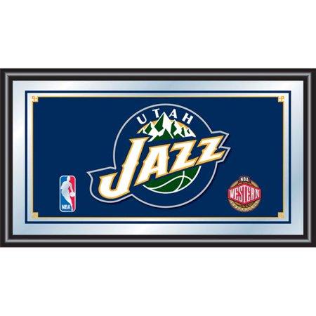 Utah Jazz NBA Framed Logo Mirror (Utah Business Week)