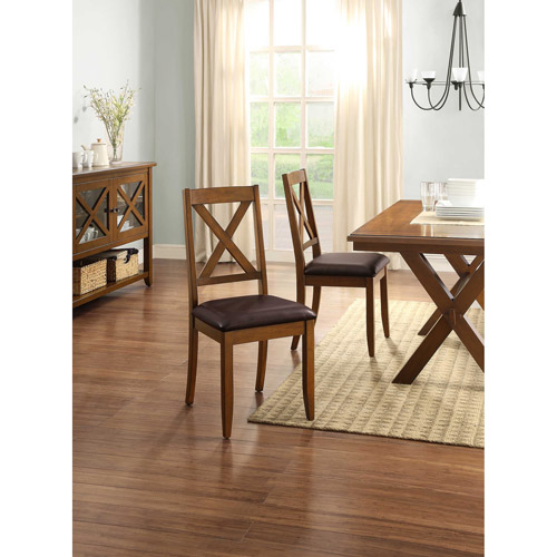 Better Homes and Gardens Maddox Crossing Dining Chair, Set of 2, Brown by