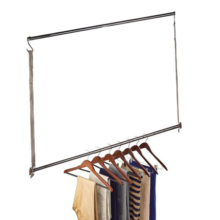 Michael Graves Extendable Closet Hanging Bars Doubler Rods Clothes Organizer
