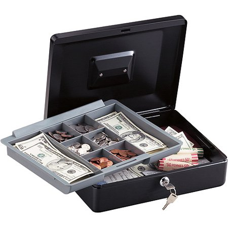 Sentrysafe Cb12 12 Inch Large Black Cash Box With