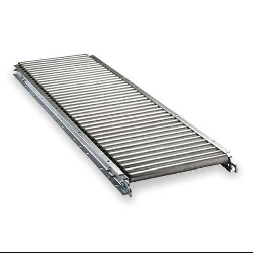 ASHLAND CONVEYOR W11F05EG03B10 Roller Conveyor, Straight, 12 In x 5 ft