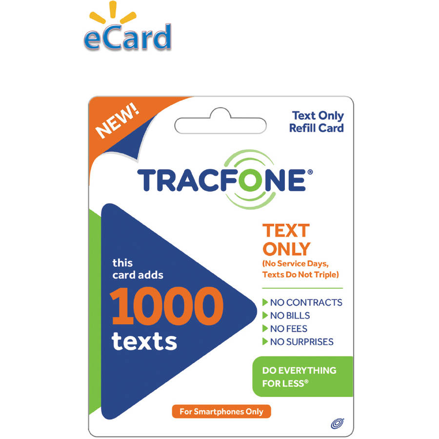 tracfone 1000 text message card
