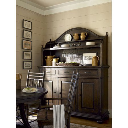 deen home down home the hostess credenza with hutch
