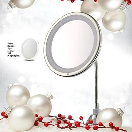 3x Magnifying Lighted Makeup Mirror 10 Quot Long Gooseneck