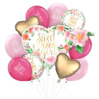 Boho Girl Baby Shower Balloon Supplies, Include Latex Balloons and Foil Bouquet