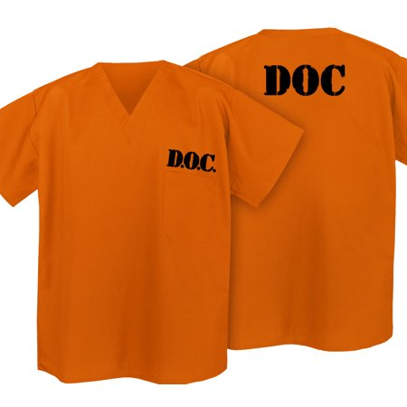 Girl Convicts (Prisoner Costume Shirt Convict Uniform Shirt for Orange is the New Black)