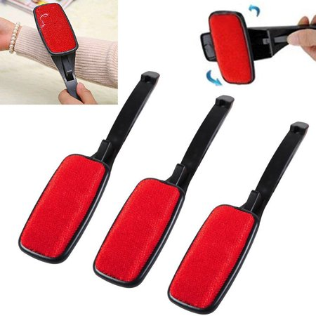 3 Pcs Fluff Fabric Clothes Dust Pet Hair Remover Cleaner Swivel Magic Lint Brush ()