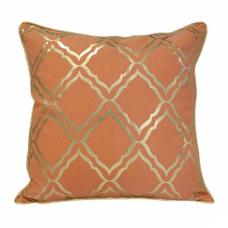 Better Homes and Gardens Coral Trellis Pillow - Walmart.com