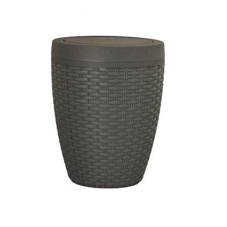 Superio Round Trash Can 6.5 Qt (Gray) - image 1 de 1