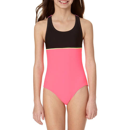 OP Girls' Color Block Athletic One Piece