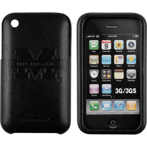 NCAA - Michigan Wolverines iPhone 3 Premium Leather Case- Prestige