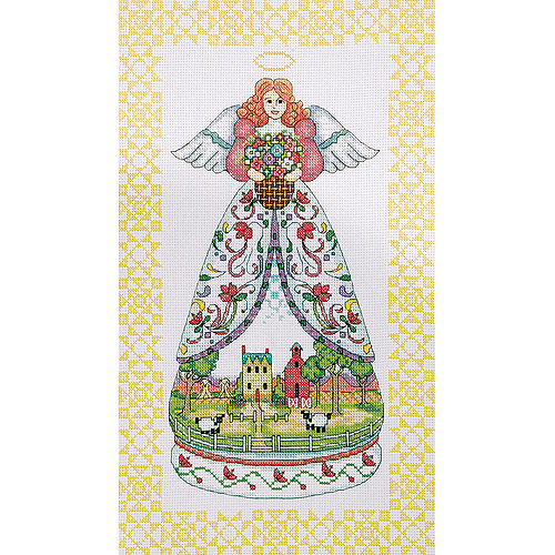 "Summer Angel-Jim Shore Counted Cross Stitch Kit, 9"" x 15"", 14-Count"