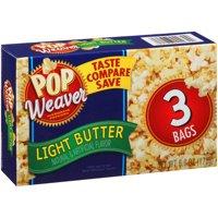 Pop Weaver Light Butter Microwave Popcorn 2 Oz, 3 Ct