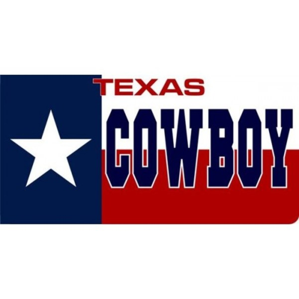 Texas Cowboy Photo License Plate