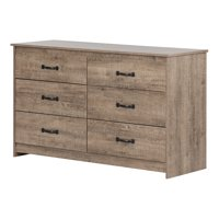 Product Image South S Tio 6 Drawer Double Dresser Weathered Oak