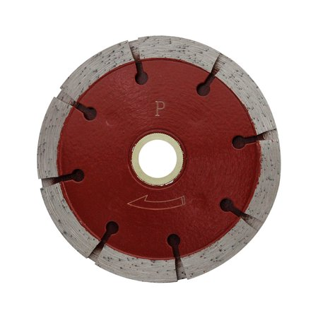 5'' Premium Red Tuck Point Blade Concrete Mortar Joint Removal 7/8''-5/8'' Arbor Premium Tuck Point