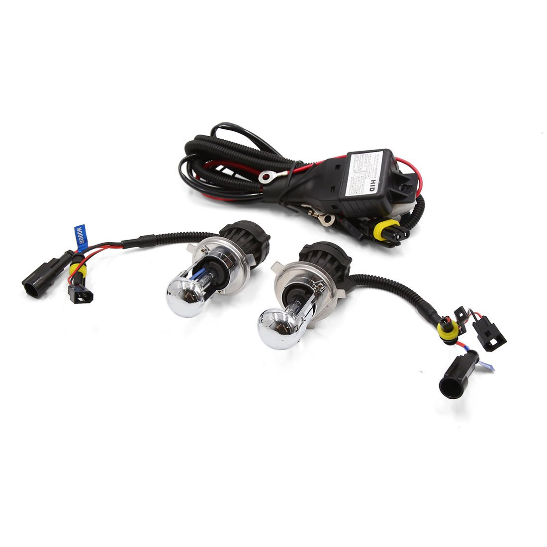 2pcs 35W DC 12V Car H4 HID Xenon White Headlight with Wiring ... Xenon Wiring Harness Controller on