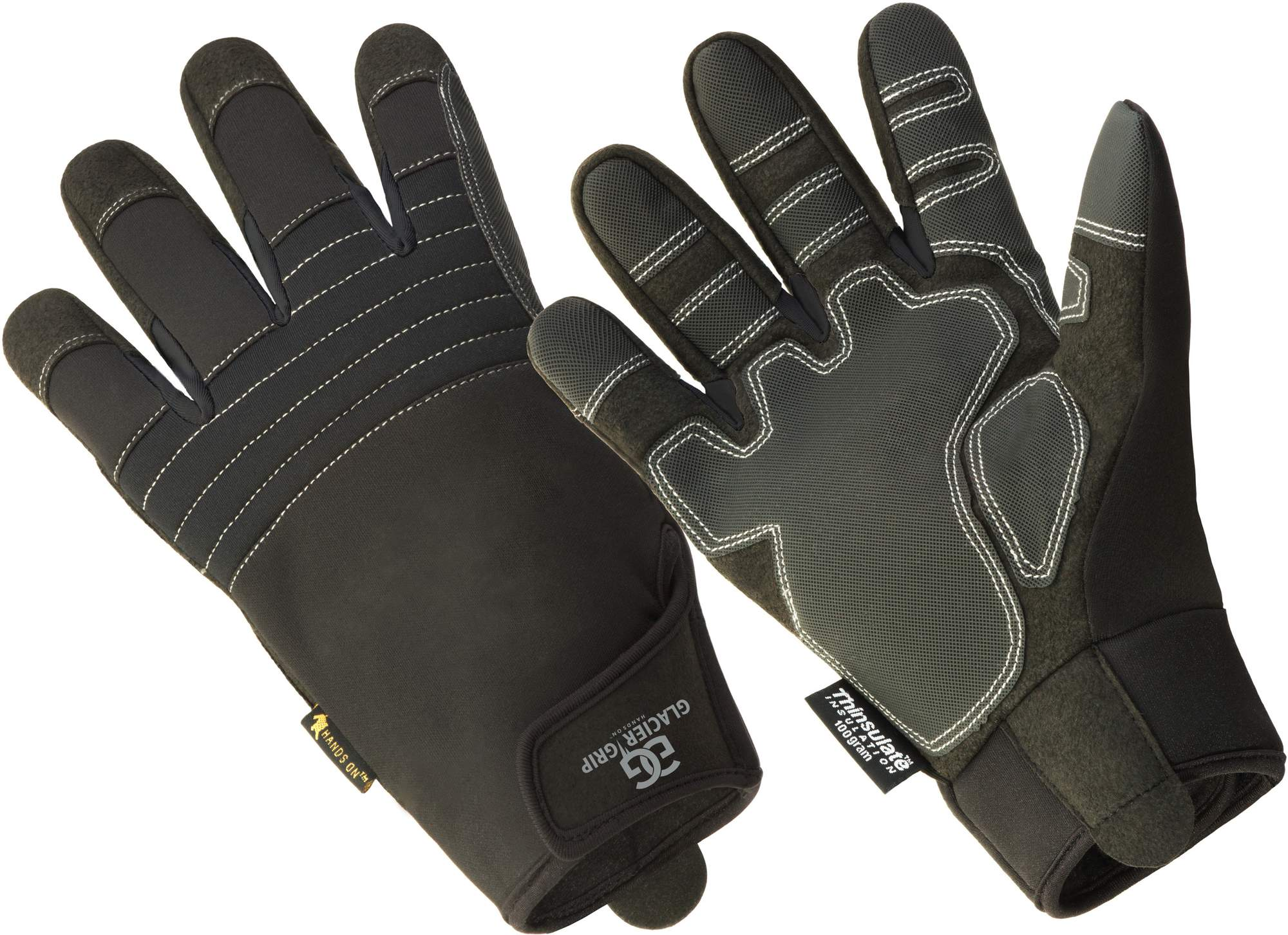 Mens All Action Fleece Lined Gloves With Gripper Palm and fingers