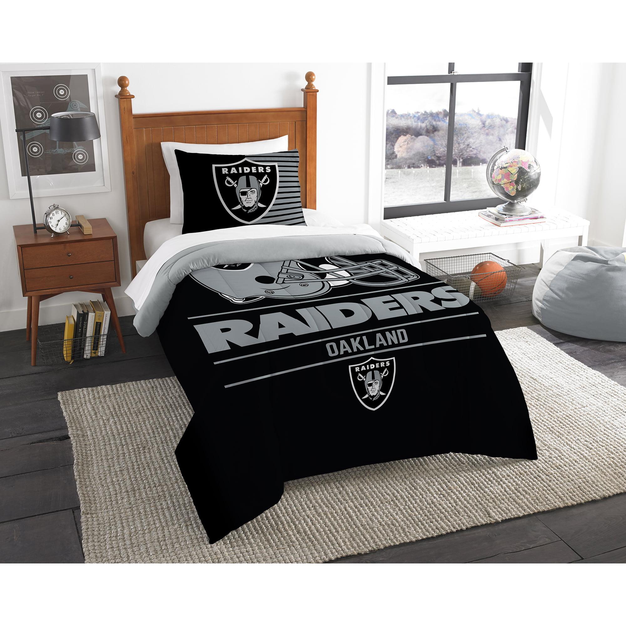 Oakland Raiders The Northwest Company NFL Draft Twin Comforter Set - No Size