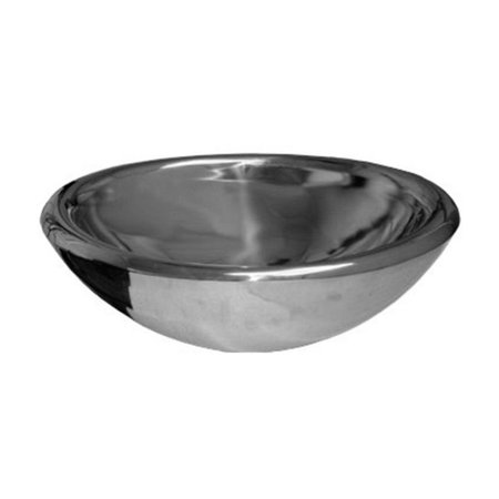 Steel Above Mount - Whitehaus Collection Noah WHNVE217-MIRR Vessel Sink - Polished Stainless Steel
