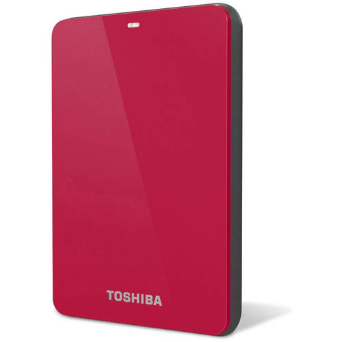 Toshiba Canvio Connect 2 TB External Hard Drive - Portable - 1 Pack - Red