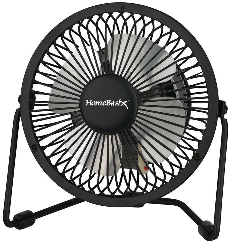 PowerZone CZHV4RSB-BK Personal Fans, 1-Speed