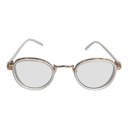 White on Gold Clear Lens With Side Shield Sunglasses Tony Stark Sunglasses (Tony Stark Sunglasses)