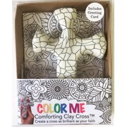 "Color Me Comforting Clay Cross w/Greeting Card-Mosaic (5.5"")"