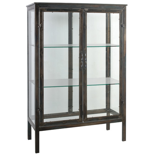 A&B Home Parnell Keepsake Display Accent Cabinet