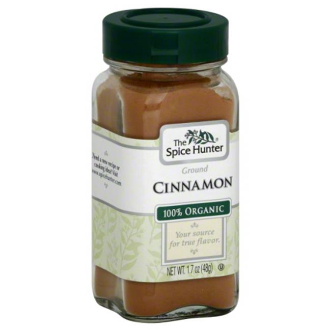 SPICE HUNTER CINNAMON GRND ORG-1. 7 OZ -Pack of 6