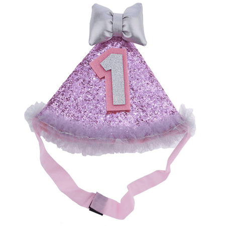 2 Year Old Baby Girl Birthday Themes (Lux Accessories Baby girl's 1 Year Old Birthday Glitter Hat)