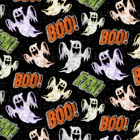 DAVID TEXTILES, INC. SPOOKY GHOSTS COTTON FABRIC BY THE YARD 44