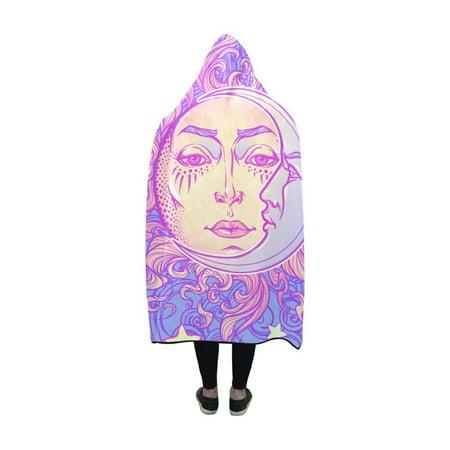 HATIART Hooded Blankets Fairytale Style Sun Throw Wearable Anti-pilling Polar Fleece Blanket Wrap 50x60 inch - image 2 of 3