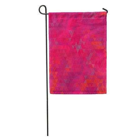 LADDKE Pink Hot Vibrant Bright Red Abstract Geometric Blank Brightly Colored Garden Flag Decorative Flag House Banner 12x18 inch ()