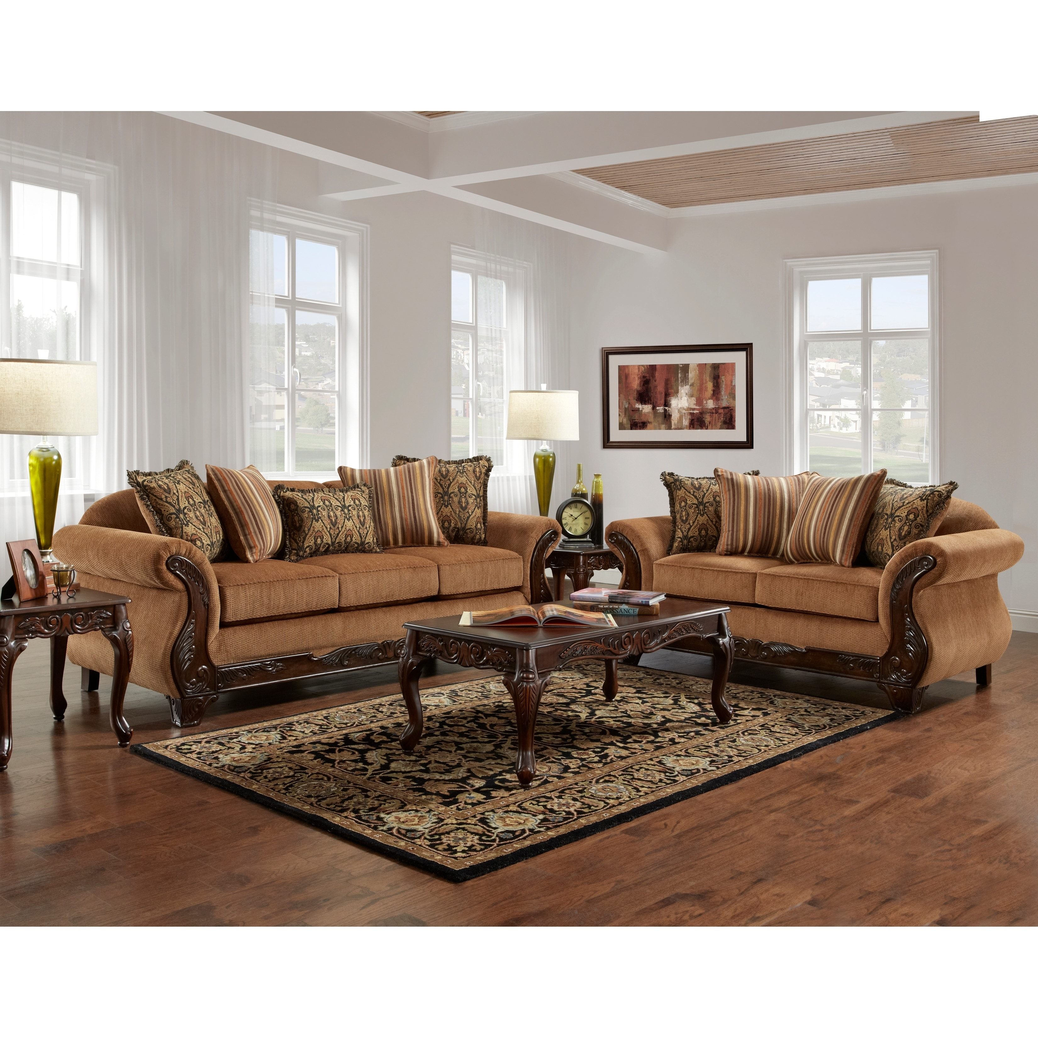 Sofa Trendz Barnes 2pc Sofa and Loveseat