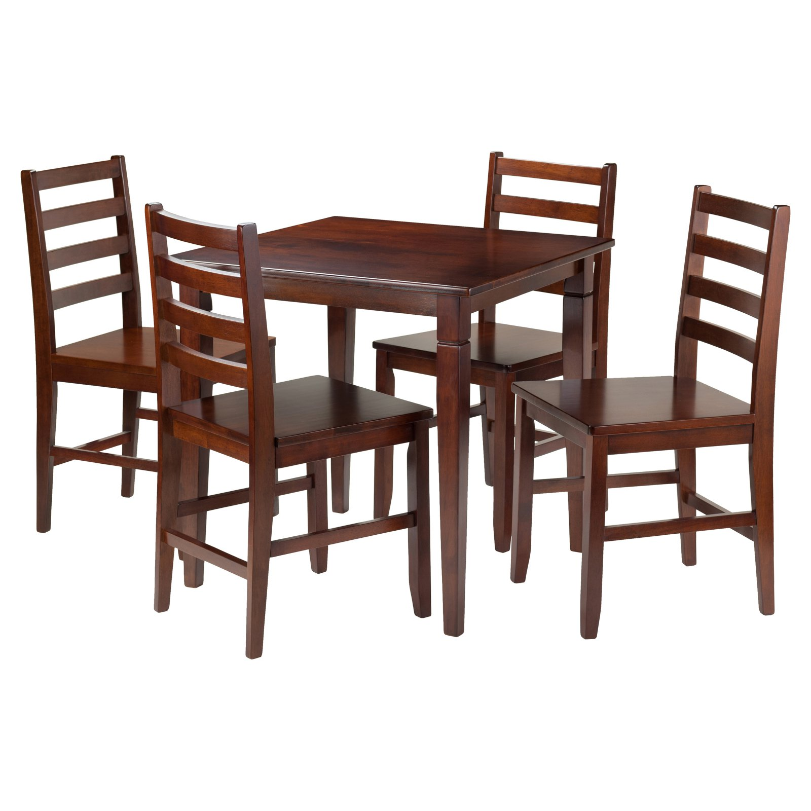 Kingsgate 5-Pc Dining Table with 4 Hamilton Ladder Back Chairs