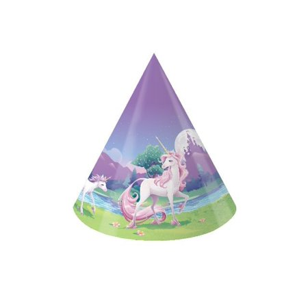 Access Unicorn Fantasy Child Size Paper Party Hats, 8 Ct - Paper Top Hat
