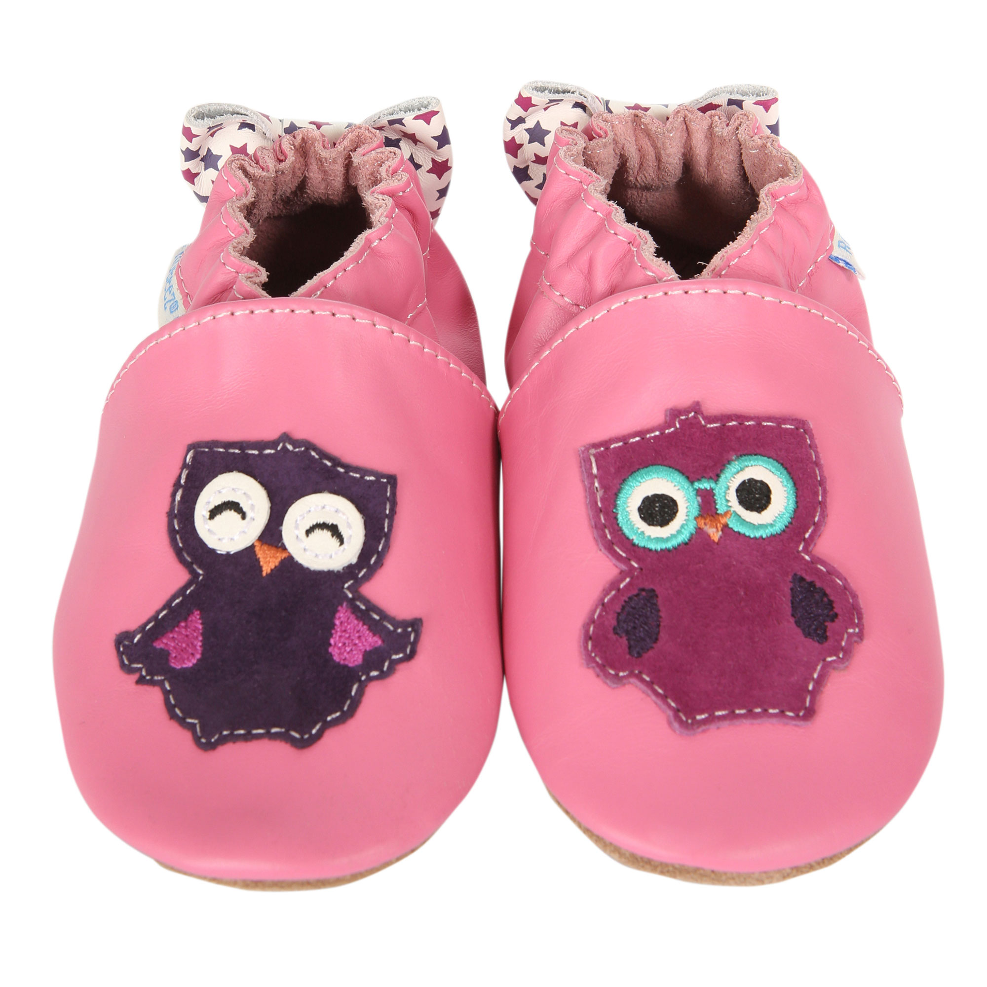 Robeez Newborn Baby Girls Pink Baby Shoes Owlivia Soft ...