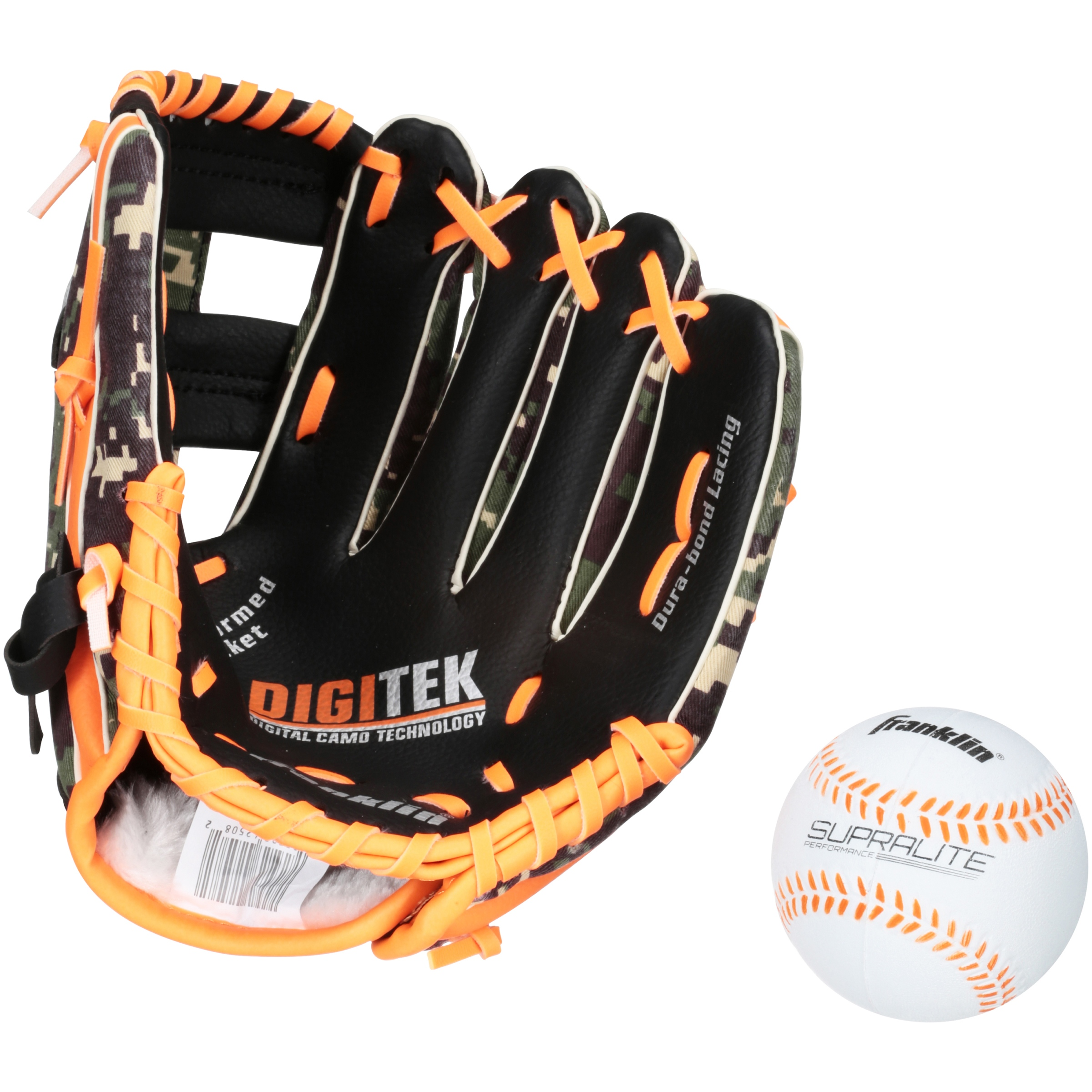 "Franklin Sports 9.5"" PVC Baseball Glove with Ball by Franklin Sports"