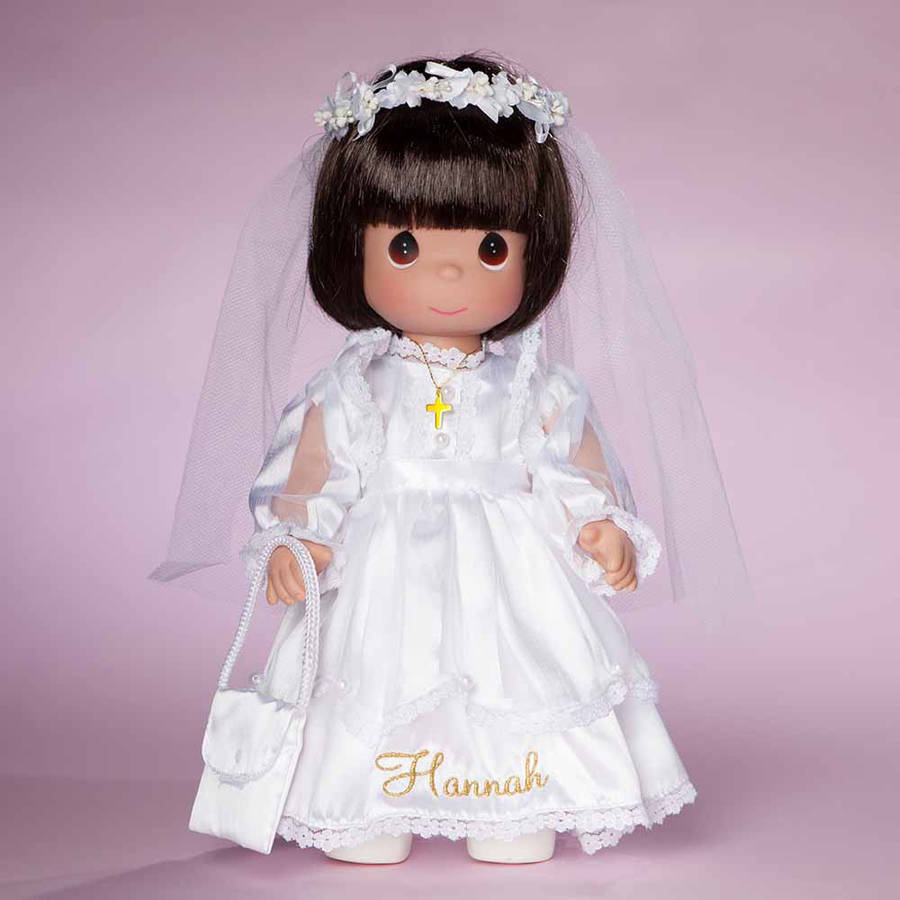 Personalized Doll Precious Moments First Communion Gift Available In Different Hair Colors by Generic