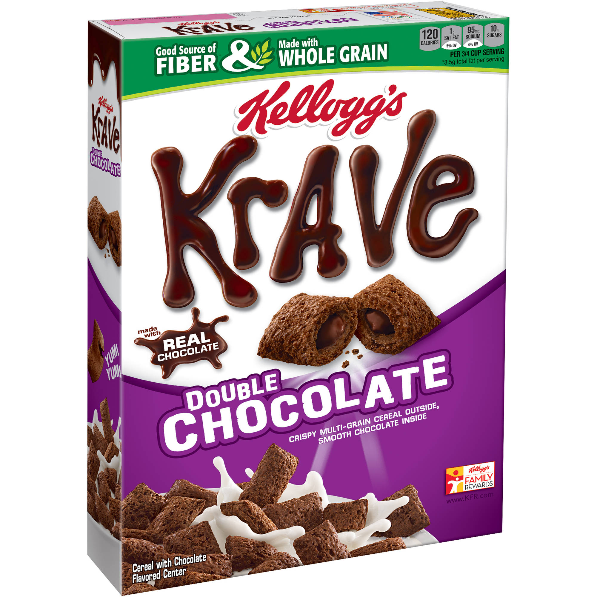 Kellogg's Krave Double Chocolate Cereal, 11 ounce box