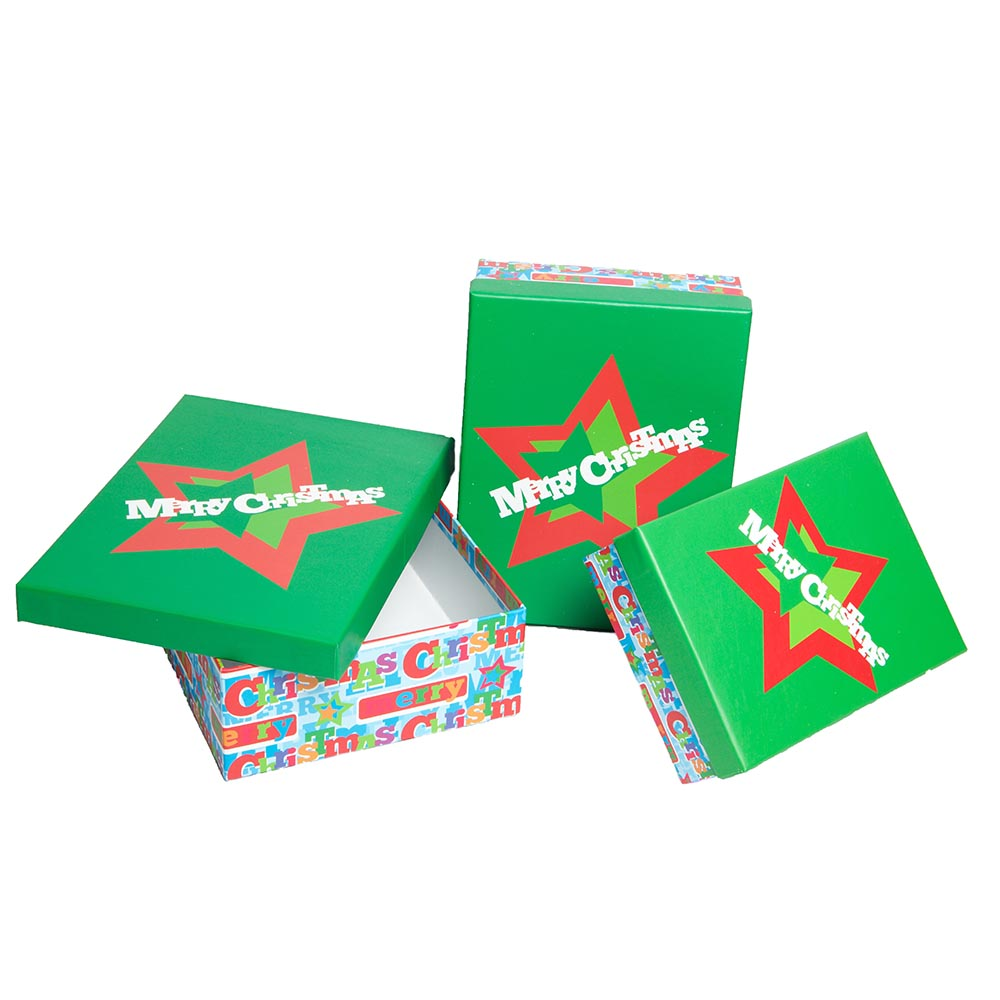 3 Piece Christmas Gift Boxes by It's In The Bag