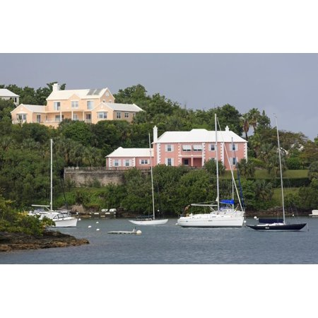 Houses in Pitts Bay, Hamilton City, Pembroke Parish, Bermuda, Central America Print Wall Art By Richard Cummins (Party City Pembroke Pines)