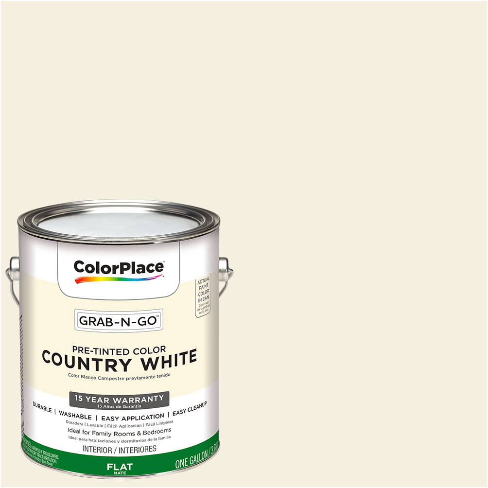 ColorPlace Grab-N-Go, Interior Paint, Flat Finish, Country White ...