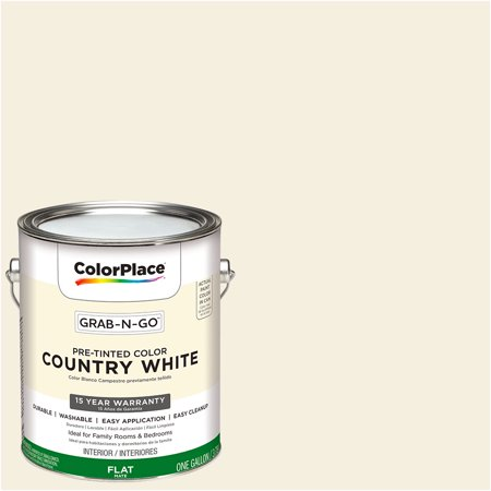 Colorplace Grab N Go Interior Paint Flat Finish Country White