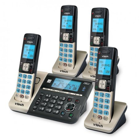 Refurbished VTECH DS6752-4 4 Handset Connect to Cell Cordless Phone System