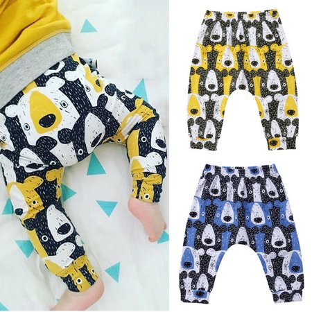 Kids Baby Boy Girl Bear Harem Pants Trousers Newborn Bottoms Leggings Sweatpants
