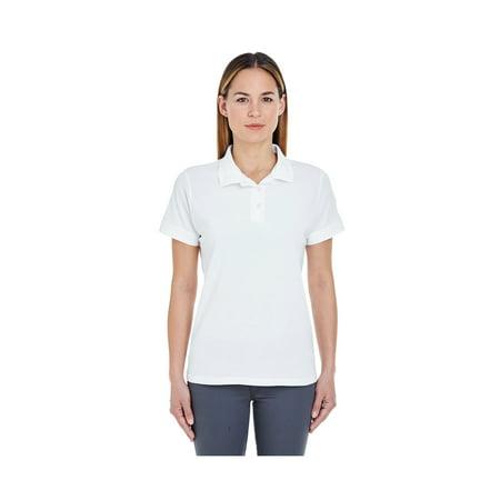 UltraClub Women's Basic Pique Polo Shirt, Style 8550L (Gelato Pique Halloween)