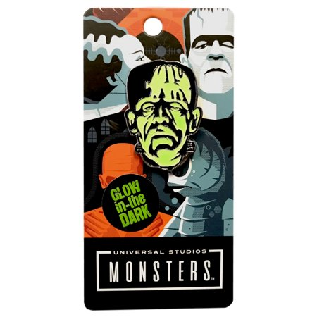 Universal Frankenstein Head Glow In The Dark Enamel Pin](Frankenstein Head Piece)